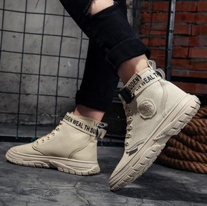 Hot Sale-Fashionable fashionable high-top sneakers for running in autumn and winter Men casual shoes Sole antiskid Short leather boots 887
