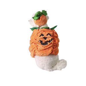 Holloween Party Pet Cat Clothes Carnival Pet Dog Supplies Warm Pumpkin Shape Three-dimensional Costume Plus Size S-2XL