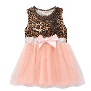 Summer Girls Dress Vestidos Princess Leopard Clothes Kids Dresses Baby Printing Gauze Party Children Sleeveless Dress Hot