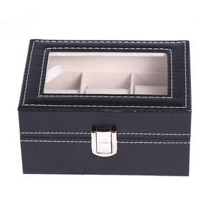 mode en cuir PU écrins de montre 2 3 5 6 10 12 20 24 Grids Montre de stockage Organisateur Box Display Montre Case