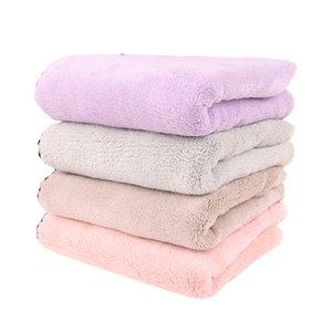 Ms Assorbimento d'acqua Asciugatura rapida Cappuccio morbido Confortevole Addensare Coral pile Asciugamano per capelli Asciugamano nuovo stile all'ingrosso