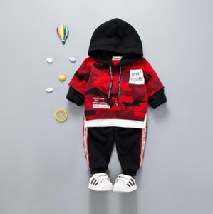Bebek Boys And Girls Takım Elbise Marka Tracksuits Çocuk Giyim Seti Sıcak Satış Moda İlkbahar Sonbahar Uzun Kollu Giysi kamuflaj