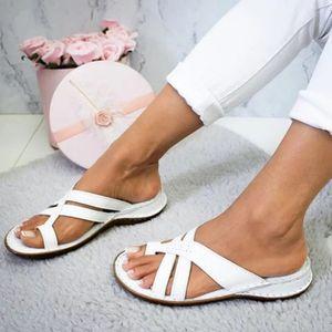 Women Sandals Summer Shoes Footbed Platform Flat Sandals Female Plus Size Flip Flop Ladies Soft Bottom Slippers