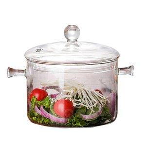1300Ml Creative Soup Pot Transparent Glass Cooker Salad Instant Noodle Bowl Handmade Cooking Tools Kitchen Supplies