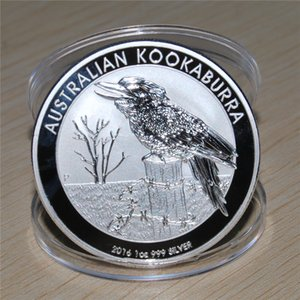 2016 1oz 999 Silver plated Kookaburra Coin