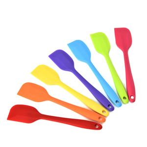 Krem kazıyıcı gıda sınıfı silika jel kazıyıcı yüksek sıcaklık fırın tereyağı spatula Krem spatula Silika jel kürek 10 renk seçmek için