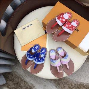 TOP nuove ragazze casuali 2020 delle donne ESCALE PALMA FLAT PERIZOMA pantofole sandali STARBOARD delle donne di modo rosso bianco formato di alta qualità 35-42 con