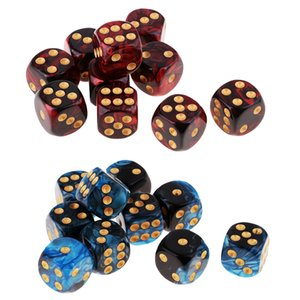 20 pack of 6-sided Game Dice Set , 10 Translucent Colors Square Corne