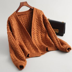 New Autumn Knit Sweater Women thick Fashion Loose Warm Cardigan Women Casual Long Sleeve Winter Coat