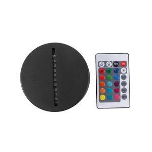 USB-Kabel Touch-Lampensockel für 3D-LED-Nachtlicht Ersatz-bunten Licht Basistabelle Hochzeit Weihnachtsdekor-Halter
