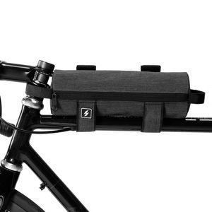Al por mayor-Accesorios para bicicleta de ciclo del bolso del manillar superior del tubo del armazón bolsa 0.7L bicicletas delantera de la bicicleta bolsa de Ciclismo Amarrado almacenamiento