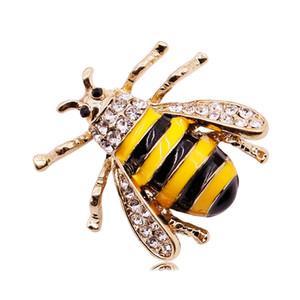 Api Originalità diamante dell'insetto Brooch della lega olio Dripping donna spilla Abbigliamento Accessori Parti Pin