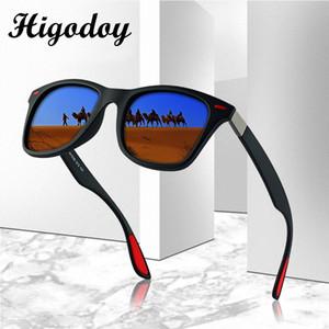 Higodoy Vintage place surdimensionné lunettes de soleil polarisées Hommes Retro Classique Hommes Goggle Myopie Lunettes de soleil Marque Designer 2020