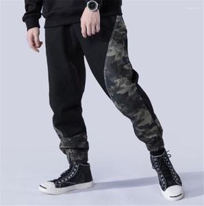 Pantalones con cordón flojo del diseñador de moda Bolsillos con paneles de pantalones casuales para hombre Los hombres ropa de camuflaje con paneles para hombre