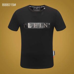 2020Fashion cotone di modo maglietta lettere in bianco e nero a maniche lunghe da uomo ricamato T-shirt abbigliamento strada casuale a maniche lunghe