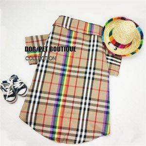 Classique Plaid Dog Shirts INS élégant coloré vêtements pour animaux Coton chat shirt petit chien shirt Pet Apparel