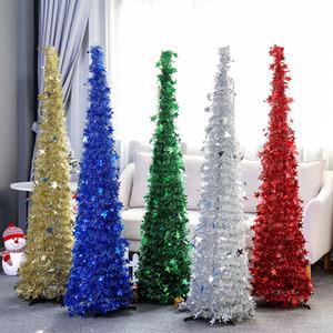 Urijk Creative arbre de Noël Fournitures EN LAINE Arbre de Noël rétractable Folding Décorations de Noël Décorations du Festival Accueil