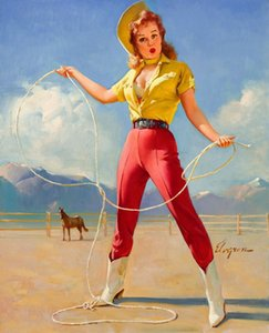 Gil Elvgren Pin Up Girls 09 Home Decor Handcrafts / HD печать живопись маслом на холсте Wall Art Canvas Pictures 200216