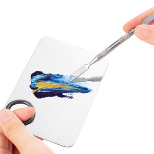 Красота из нержавеющей стали макияж ногтей Eye Shadow Palette Фонд Смешивание Шпатель Cosmetic Инструмент Nail Art оборудование RRA3077