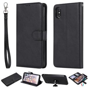 Lederner magnetischer Abnehmbarer Fall für Iphone X 10 8 7 Abnehmbare Wallet Abdeckung 2 in 1 für Samsung Galaxy Note8 S8 plus