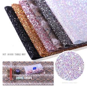 New Diamond Nail Scrub Mat del manicure di arte del chiodo Tabella Mats strumento salone di pratica del cuscino glitter pieghevole lavabile Pad