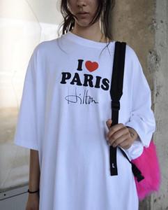 314 2020 летний бренд тот же стиль футболка письмо круглый вырез с коротким рукавом белый черный Флора печати женский пуловер топ LEDING