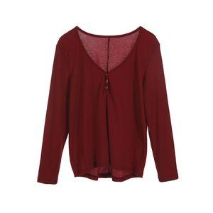 3colors Mulheres Blusas Casual Plus Size Long Sleeve Túnica V do pescoço solto cobre camisas marca de moda vestidos de festa