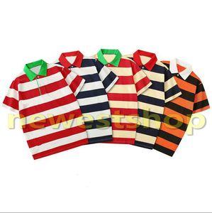 2020 Sommer Designer-Luxus-Kleidung für Herren Polo Buchstabedruckes T-Shirt lässig Turn-down-Hemden Kragen Polo-Frauen Streifendruck-T-Shirts