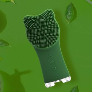 El nuevo silicón de limpieza facial cepillo de Sonic cara Depuradores impermeable de la cara eléctrica Limpiador cara del Massager del cepillo de limpieza