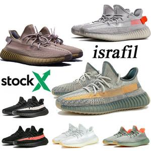 Kanye West 2020 новых Исрафили тренер статического мужских кроссовок Шлака Earth Tail Light зебра женщин отражающих кроссовки Размер Eur 48