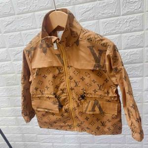 Kids Designer куртки Luxury Pattern пальто Британского стиль мальчики Ветровка Марка девочки Мода Куртка с капюшоном Kid Одежда 2 Стиля