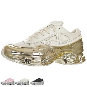 Raf Simons Originals Ozweego 3 III Sneaker para Femininos sapatos de ouro Sneakers Mens Prata Esportes Retro tênis de corrida do Womens Air Trainers Mulheres