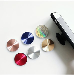 Grain CD en métal flexible Stent de téléphone portable 3M colle poignée de support extensible support voiture 360 degrés doigt magnétique support de téléphone portable pour iPhone Samsung