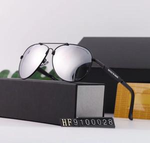 Mens Pilot Sunglasses Popular Polarized Men Driving Sunglass Metal Frame Lentes Eyewear Fashion Sun Glasses Des lunettes de soleil 2020