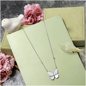 Elegant Pearl Butterfly Pendant Necklace Sterling Silver Chain Necklace Women's Fashion Jewelry Natural Shell Pendant Free Shipping