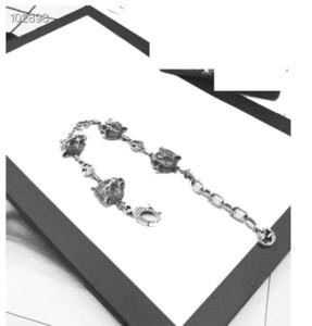 Usine en gros nouvelle 925 en argent sterling à trois dimensions bracelet tête de léopard personnalisé modèles de mode pour hommes et femmes (code gratuit