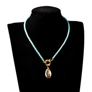 Красочные Бусы Колье для Женской Моды Модный Богемный Лето Шикарный Нагрудник Колье Femme Cowrie Shell Ожерелья Пляж Ювелирные Изделия Подарок
