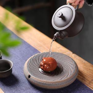 Beau porc Ornement thé petits animaux Yixing thé Pet Violet Clay Tea Table chanceux Accessoires Décoration