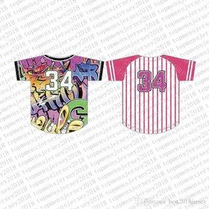 Вверх на заказ трикотажные изделия бейсбола Mens вышивки Logos Джерси Бесплатная доставка Дешевые оптовая любое имя любое число Размер M-XXL 47