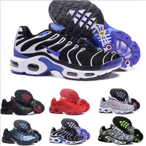 2019 New Design Top Quality TN Mens shOes Breathable Mesh Chaussures Homme Tn REqUin Noir Outdoor ShOes Size 7-12 K56L
