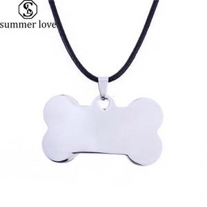 الفولاذ المقاوم للصدأ الحيوانات الأليفة القط الكلب العلامة قلادة لطيف العظام القط جرو الكلب الياقات قلادة الملحقات مجوهرات موضة جديدة