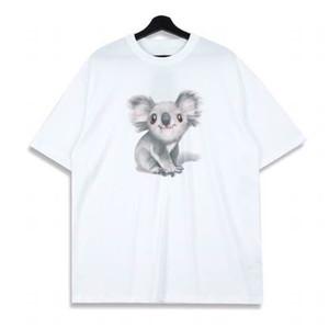 T-shirt Casual 20SS Verão bonito Austrália Koala Impresso dos desenhos animados Tee High Street manga curta Homens Mulheres respirável Tee HFYMTX771