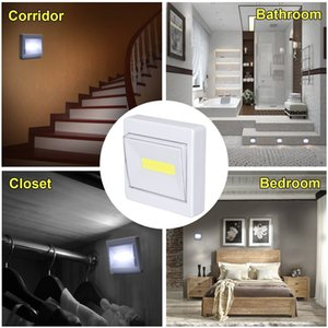 Supli Mini Led Night Light Closet Lamp Battery Operated Wireless Wall for Under Kitchen Cabinets Energy-Saving