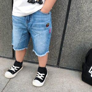 جدي جديد بنين الدينيم بانت أزياء الصيف جينز بنات بيبي تي شيرت السراويل القصيرة الرضع جان ملابس الأطفال