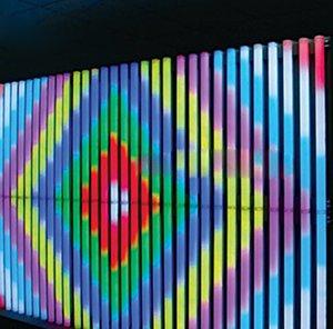 LED Neon 16Pixels / M Tam Renkli SMD5050 RGB LED Dijital Tüp LED Ekran DMX512 IC DMX Denetleyici + 2adet Güç Adaptörü Sign