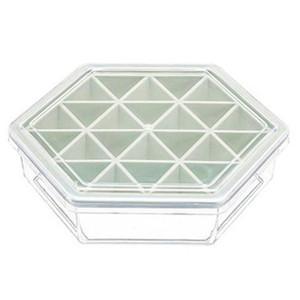New Hexagonal Ice Square Mold Tray Mould Kitchen Diy Ice Cream Maker Storage Box Kitchen Tools Ice Square Making Box Lattice Mod