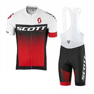 SCOTT takım Bisiklet Kısa Kollu jersey önlüğü şort set Yaz erkek Kısa Kollu Giyilebilir Rahat Spor Forması Set S5231