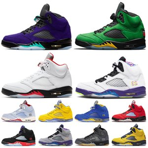 Jumpman 2020 Top-Qualität 5 Alternate Grape SE Oregon Fire Red 5 5s Alternate Bel Air Mens-Basketballschuhe Trainer Designer Retro-Turnschuhe