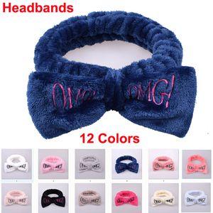 Bonito Bow Headbands OMG Elastic bowknot faixa de cabelo Mulheres Meninas Turban Chefe envolve Hairlace Para Lavar a Cara Maquiagem Spa Sports Yoga Duche