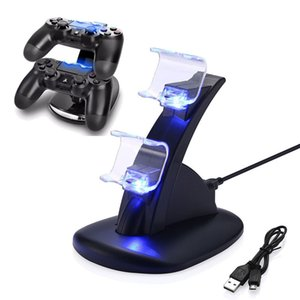 PS4-Controller-Ladegerät Playstation PS4 Pro-Controller-Ladegerät Aufladen Dockingstation Ständer Dual-USB-Schnellladestation für PS4
